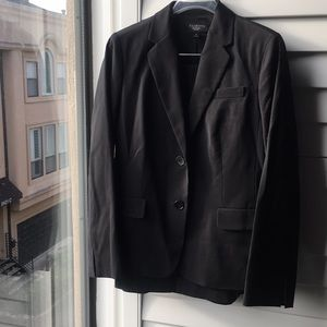 Black classic stretch pencil skirt Talbots suit